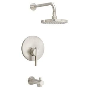 American Standard Berwick® Single Handle Single Function Bathtub & Shower Faucet in Brushed Nickel (Trim Only) AT430502295