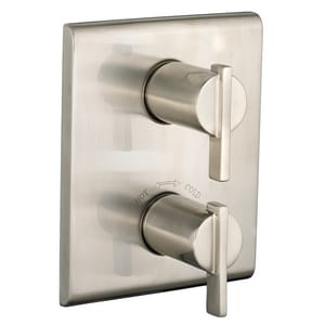 American Standard Times Square® Central Thermostatic Trim Kit with Double Lever Handle in Satin Nickel - PVD AT184740295
