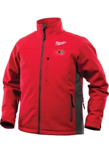Milwaukee M12™ S Size Polyester Heated Jacket Only in Red and Grey M201R21