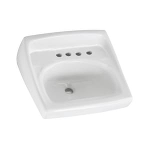 American Standard Lucerne™ 20 x 18 in. Vitreous China Wall Mount Lavatory 8 in. Centers White A0356037020