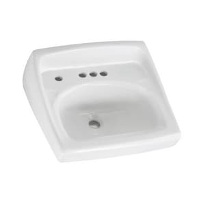 American Standard Lucerne™ Wall Mount Bathroom Sink in White A0355056020