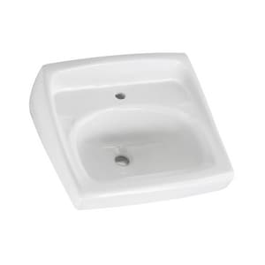 American Standard Lucerne™ Wall Mount Bathroom Sink in White A0356041020