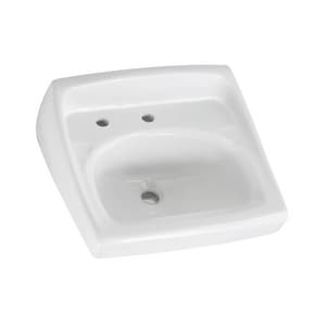 American Standard Lucerne™ Wall Mount Bathroom Sink in White A0356115020