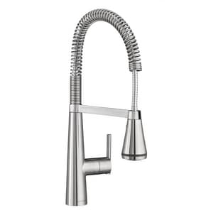 American Standard Edgewater™ Single Handle Pull Down Kitchen Faucet in Stainless Steel - PVD A4932350075