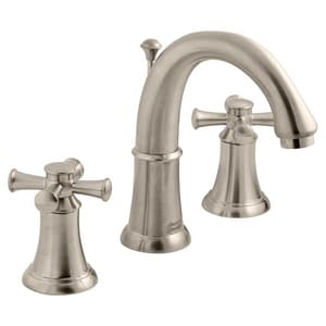 American Standard Portsmouth® 1.5 gpm 3-Hole Widespread Lavatory Faucet with Double Cross Handle in Satin Nickel - PVD A7420821295