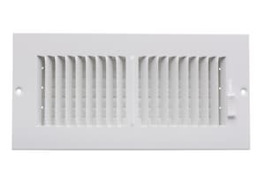 PROSELECT® 10 in. Ceiling & Sidewall Register Residential in White 2-way Steel PS2W10