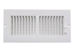 PROSELECT® 18 x 6 in. Residential Ceiling & Sidewall Register in White 2-way Steel PS2WW18U