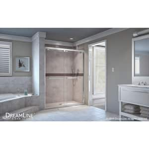 DreamLine Encore 54 in. Frameless Bypass Sliding Shower Door with Clear Glass in Polished Chrome DSHDR165476001