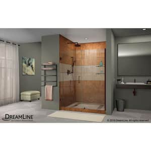 DreamLine Unidoor 59 in. Frameless Hinged Shower Door with Tempered Glass in Oil Rubbed Bronze DSHDR20587210S06