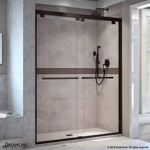 DreamLine Encore 60 in. Frameless Bypass Sliding Shower Door with Clear Glass in Oil Rubbed Bronze DSHDR166076006