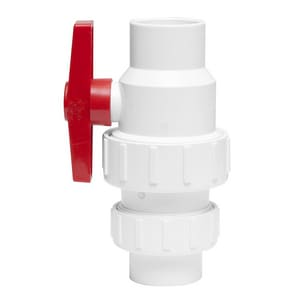 PROFLO® 1-1/2 in. PVC Full Port Socket 125# Ball Valve PFPCVS400J