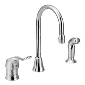 Moen M-Dura™ Multi-Purpose Kitchen Sink Faucet with Single Lever Handle in Polished Chrome M8138