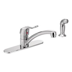 Moen M-Dura™ Single Handle Kitchen Faucet in Chrome M8707