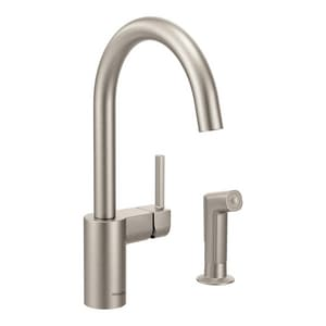 Moen Align™ Single Handle Kitchen Faucet in Spot Resist Stainless M7165SRS