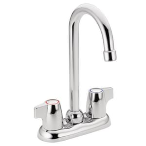 Moen Chateau® Two Lever Handle Bar Faucet in Polished Chrome M4903