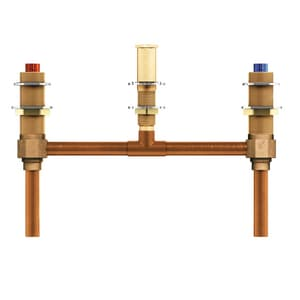 Moen 1/2 in. 3-Hole Double-Handle Fixed Roman Tub M4796