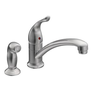 Moen Cau 1 5 Gpm 2 Hole Deck Mount Kitchen Faucet With