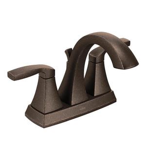 Moen Voss™ Two Handle Centerset Bathroom Sink Faucet in Oil Rubbed Bronze M6901ORB