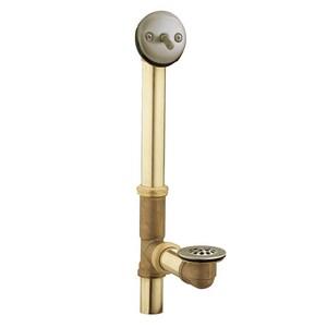 Moen 16 in. Brass Trip Lever Drain in Brushed Nickel M90410BN