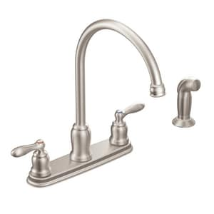 Moen Caldwell™ Two Handle Kitchen Faucet in Spot Resist Stainless Steel MCA87060SRS