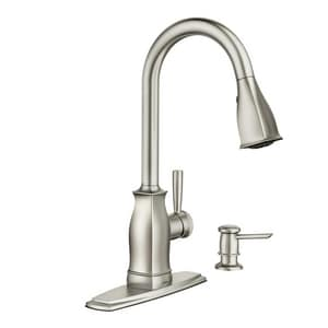 Moen Hensley Single Handle Pull Out Kitchen Faucet In Spot