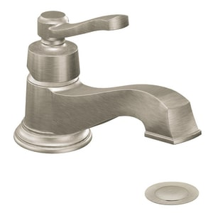 Moen Rothbury™ Single Handle Centerset Bathroom Sink Faucet in Brushed Nickel MS6202BN