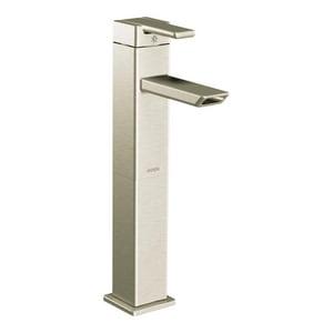 Moen 90 Degree™ Single Handle Centerset Bathroom Sink Faucet in Brushed Nickel MS6711BN