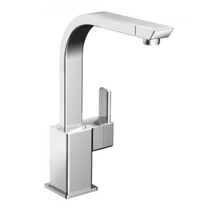 Moen 90 Degree™ Single Handle Kitchen Faucet in Polished Chrome MS7170