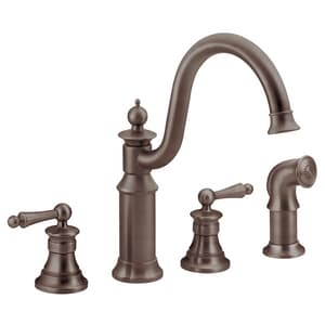 Moen Waterhill™ Two Handle Kitchen Faucet in Oil Rubbed Bronze MS712ORB