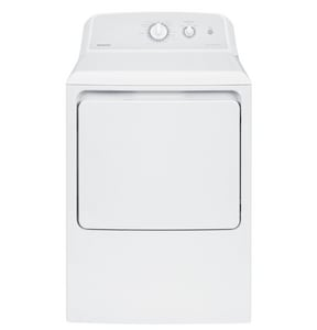 GE Appliances Hotpoint® 6.2 cf Aluminized Alloy Electric Dryer in White and Grey GHTX24EASKWS