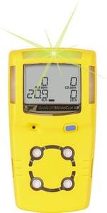 BW Technologies MCX3 MicroClip Lexan® and TPE X3 Gas Detector in Yellow HMCX3XWHMYNA