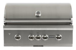 Coyote Outdoor Living 36 in. 5-Burner Built-In Gas Grill with Knob in Stainless Steel CC1SL36NG