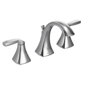Moen Voss™ Two Handle Widespread Bathroom Sink Faucet in Polished Chrome MT6905