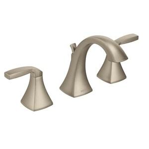 Moen Voss™ Two Handle Widespread Bathroom Sink Faucet in Brushed Nickel MT6905BN