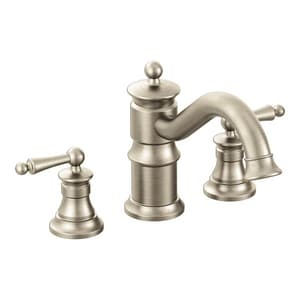 Moen Waterhill™ Two Handle Roman Tub Faucet in Brushed Nickel Trim Only MTS214BN