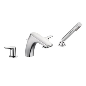 Moen Method™ Roman Tub Faucet with Hand Shower Double Lever Handle Lever MT987