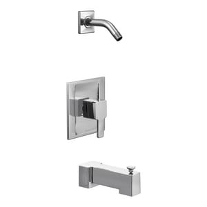 Moen 90 Degree™ Single Handle Bathtub & Shower Faucet in Polished Chrome (Trim Only) MTS2713NH