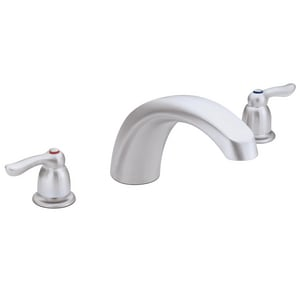 Moen Chateau® Two Handle Roman Tub Faucet in Brushed Chrome Trim Only MT990BC