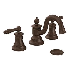 Moen Waterhill™ Two Handle Widespread Bathroom Sink Faucet in Oil Rubbed Bronze MTS418ORB