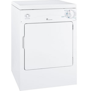 General Electric Appliances Spacemaker® 3.6 cf 3-Cycle Front Load Electric Dryer in White GDSKP333ECWW