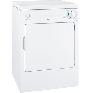 GE Appliances Spacemaker® 3.6 cf 3-Cycle Front Load Electric Dryer in White GDSKP333ECWW
