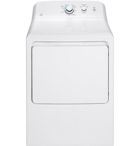 General Electric Appliances 6.2 cf Aluminized Alloy Drum Electric Dryer in White on White GGTX33EASKWW