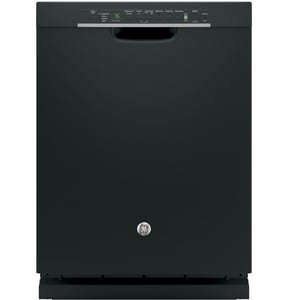 GE Appliances 23-3/4 in. Interior Dishwasher with Front Controls in Black GGDF650SGJBB