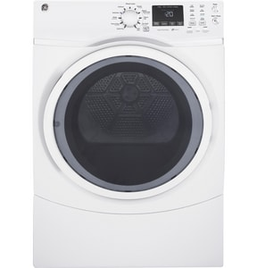 General Electric Appliances 7.5 cf Front Load Gas Dryer with Steam in White GGFD45GSSKWW