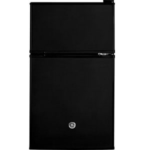 General Electric Appliances 18-5/8 x 33-3/8 in. 3.09 cf Compact Refrigerator with Double Door in Black GGDE03GGKBB