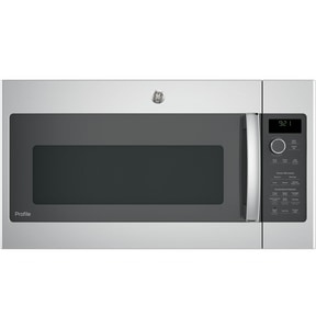 General Electric Appliances Profile™ 2.1 cf Over-the-Range Sensor Recirculating Microwave Oven in Stainless Steel GPNM9216SKSS