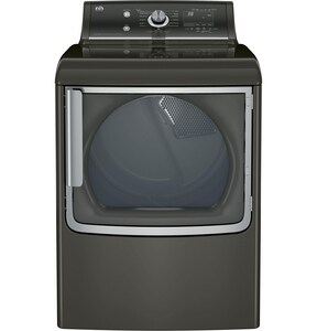 General Electric Appliances 7.8 cf Gas Dryer with Stainless Steel Drum and Steam in Metallic Carbon GGTD86GSPJMC