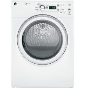 General Electric Appliances 27 in. 7 cf Electric Front Load Dryer in White GGFDL110EHWW