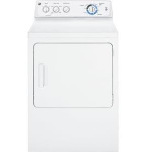 General Electric Appliances DuraDrum™ 7 CF Duradrum Electric Dryer in White GGTDL210EDWW