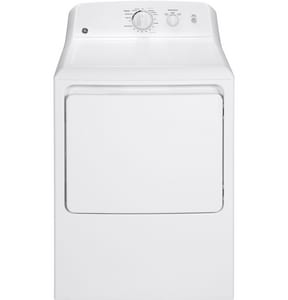 General Electric Appliances 27 in. 6.2 cf Electric Front Load Dryer in White GGTX22EASKWW